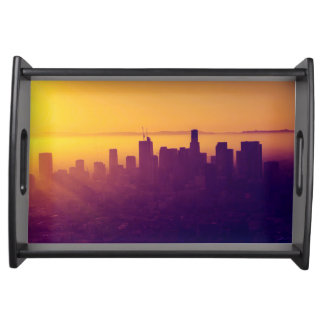 Los Angeles at sunset Serving Tray