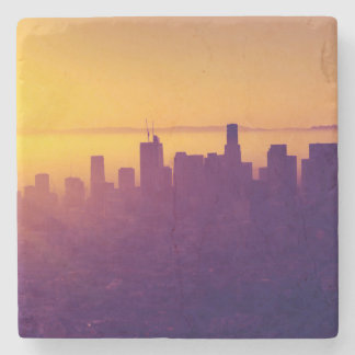 Los Angeles at sunset Stone Beverage Coaster