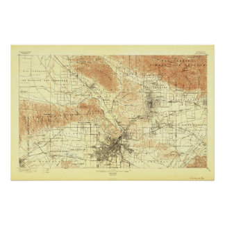 Los Angeles, CA--1894 Map Poster