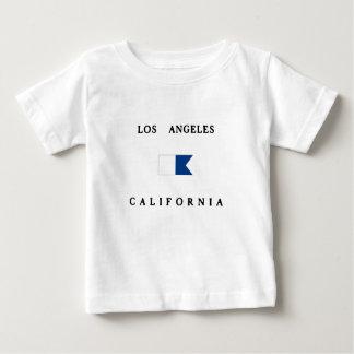 Los Angeles California Alpha Dive Flag Baby T-Shirt