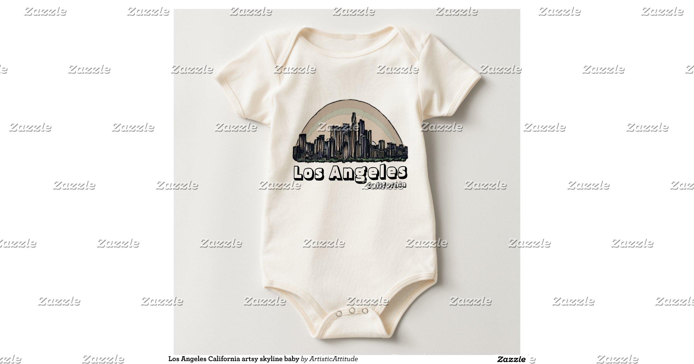 Baby Gift Baskets Los Angeles Ca : Los angeles california artsy skyline baby creeper zazzle
