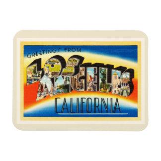 Los Angeles California CA Vintage Travel Souvenir Magnet