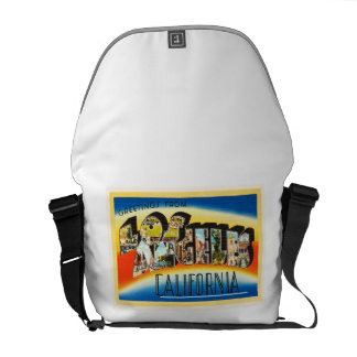 Los Angeles California CA Vintage Travel Souvenir Messenger Bags