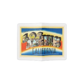 Los Angeles California CA Vintage Travel Souvenir Passport Holder