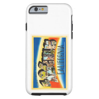 Los Angeles California CA Vintage Travel Souvenir Tough iPhone 6 Case