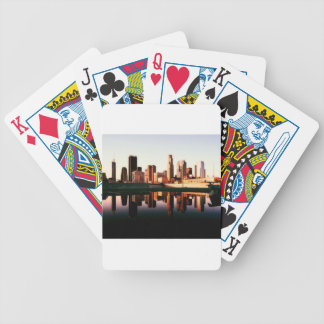 Los Angeles California City Urban Buildings Bicycle Playing Cards
