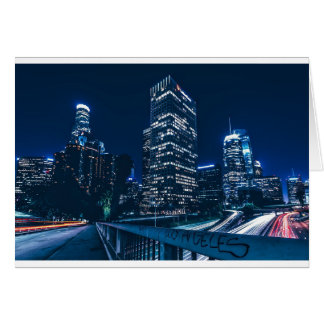 Los Angeles California City Urban Buildings Card