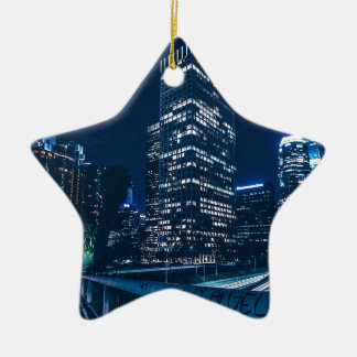 Los Angeles California City Urban Buildings Ceramic Ornament