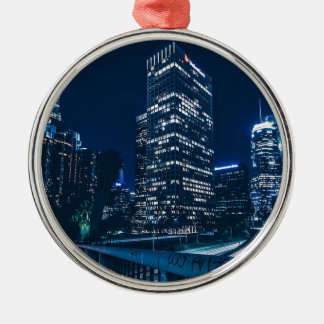 Los Angeles California City Urban Buildings Metal Ornament
