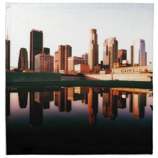 Los Angeles California City Urban Buildings Napkin