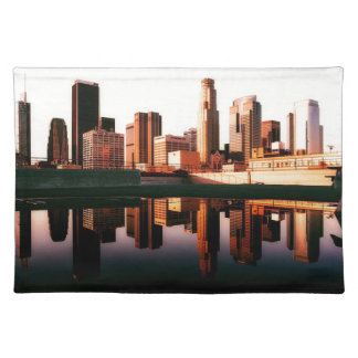 Los Angeles California City Urban Buildings Placemat
