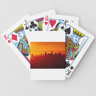 Los Angeles California City Urban Skyline Bicycle Playing Cards