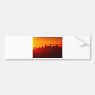 Los Angeles California City Urban Skyline Bumper Sticker