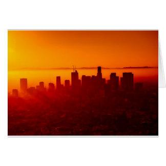 Los Angeles California City Urban Skyline Card