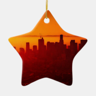 Los Angeles California City Urban Skyline Ceramic Ornament