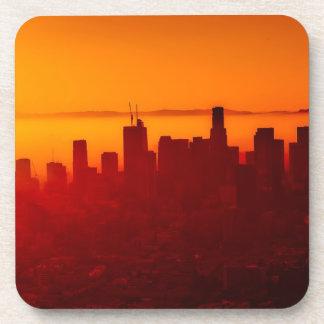 Los Angeles California City Urban Skyline Coaster
