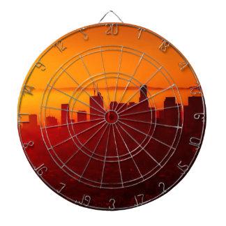 Los Angeles California City Urban Skyline Dartboard