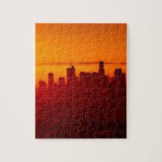 Los Angeles California City Urban Skyline Jigsaw Puzzle