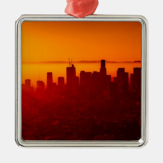 Los Angeles California City Urban Skyline Metal Ornament