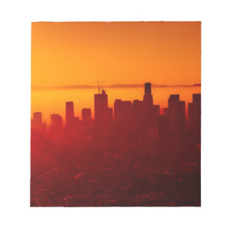 Los Angeles California City Urban Skyline Notepad