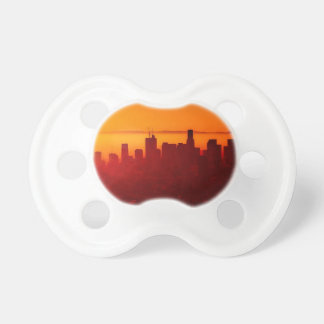 Los Angeles California City Urban Skyline Pacifier