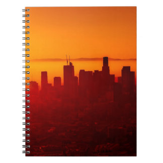 Los Angeles California City Urban Skyline Spiral Notebook