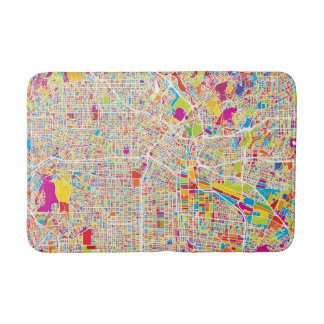 Los Angeles, California | Colorful Map Bath Mat