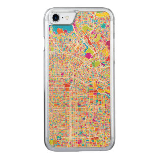 Los Angeles, California | Colorful Map Carved iPhone 8/7 Case