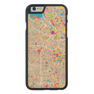 Los Angeles, California | Colorful Map Carved Maple iPhone 6 Case
