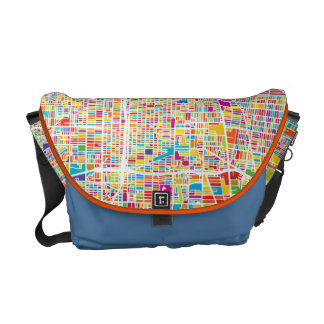Los Angeles, California   Colorful Map Courier Bag