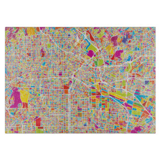 Los Angeles, California | Colorful Map Cutting Board