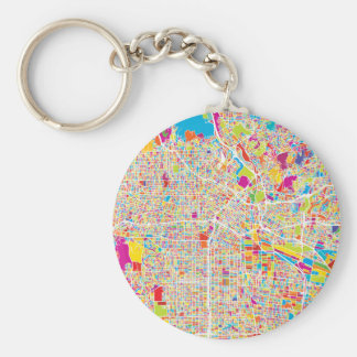 Los Angeles, California | Colorful Map Keychain