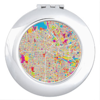 Los Angeles, California | Colorful Map Mirror For Makeup