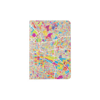 Los Angeles, California | Colorful Map Passport Holder