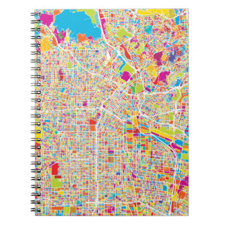 Los Angeles, California | Colorful Map Spiral Notebook