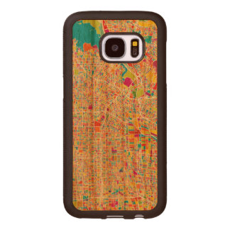 Los Angeles, California   Colorful Map Wood Samsung Galaxy S7 Case