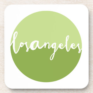 Los Angeles, California | Green Ombre Circle Beverage Coasters
