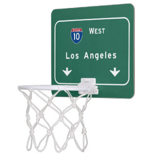 Los Angeles California Interstate Highway Freeway Mini Basketball Backboard