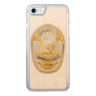 Los Angeles California Police Badge. Carved iPhone 8/7 Case
