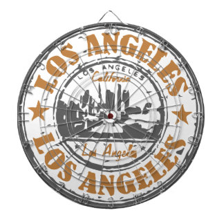 Los Angeles California Pride Seal Dartboard With Darts