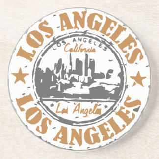 Los Angeles California Pride Seal Drink Coaster