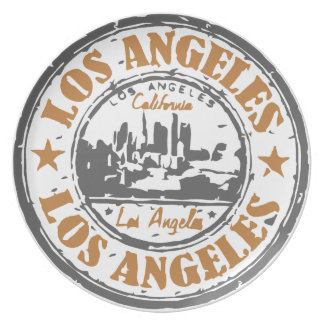 Los Angeles California Pride Seal Party Plate