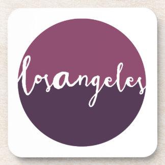 Los Angeles, California | Purple Ombre Circle Drink Coaster