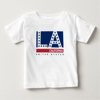 Los Angeles, California | Red,White & Blue Skyline Baby T-Shirt