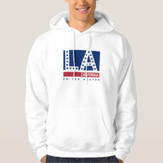 Los Angeles, California | Red,White & Blue Skyline Hoodie