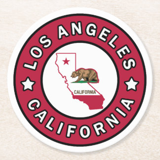 Los Angeles California Round Paper Coaster