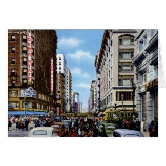 Los Angeles California Seventh at Broadway Card