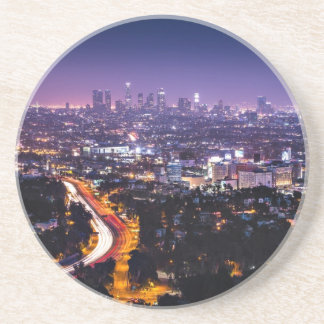 Los Angeles, California Skyline at night Coaster