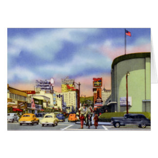 Los Angeles California Sunset and Vine Card