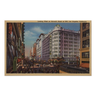 Los Angeles, CAView of Warner Bros. on 7th St. Poster